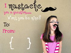 The Life of a Cheap Chickadee: I {mustache} you a question... PHOTO VALENTINES