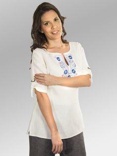 Blusa Indie #moda #lino #SS2014 www.abito.com.mx