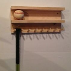 Custom Select Pine Wood Baseball Bat Rack Display Holds 8 Ball 7 Full Size Bats | eBay
