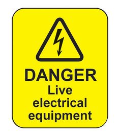 Danger Live Electrical Equipment (100 Labels) | Warning Signs ...
