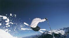 PISTES neige d'hiver montagnes de ski