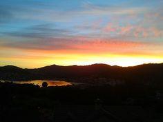 Dawning in my village O Hio, located in Pontevedra province of Galicia, wonderful region of northern Spain.