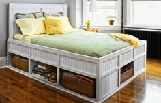 How to Build a Storage Bed Absolutely want to try and tackle this one.