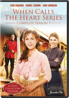"""[""""<i>When Calls The Heart</i> tells the captivating story of Elizabeth Thatcher (Erin Krakow), a young teacher accustomed to her high society life, who receives her first classroom assignment in Coal Valley, a small coalmining town where life is simple, but often fraught with challenges. <br><br>Lori Loughlin plays Abigail Stanton, a wife and mother whose husband, the foreman of the mine, along with a dozen other miners, has just been killed in an explosion. The newly widowed women find ..."""