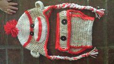 Sock Monkey Hat Diaper Cover set by KassiesCrochet on Etsy, $25.00