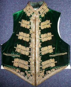 5th Dragoon Gds green velvet waistcoat. Considered to be the most beautiful mess kit in the British Victorian Army.