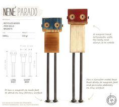 Wooden robot NENÉ