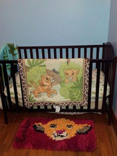 They have the Simba rug set up in the nursery! Love it!