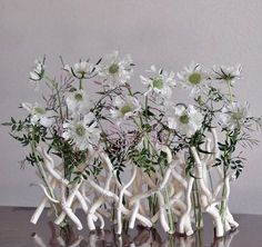 design using white twig structure