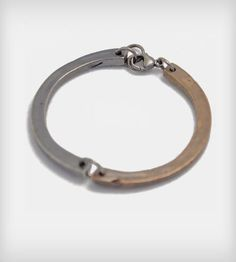 Two-Piece Bracelet - Bronze & Silver  | This bracelet is made of two pieces, one casted in silver and ... |