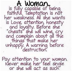Seems there's always something about how a man should treat a woman, learn much?