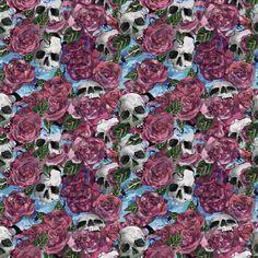Be Diff - Estampas coordenadas | Skulls & Roses by Caryor Design