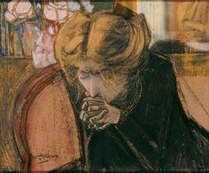Jan Toorop, Het gebed / The prayer (Miek Janssen) - 1914 Jules Cheret, Dutch Painters, Post Impressionism, Popular Art, Jewish Art, Dutch Artists, French Art, Art Music, Traditional Art