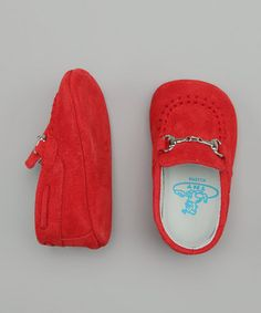 TNY by Tinny Shoes - Red Chain Moccasin