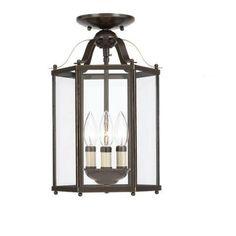 Sea Gull Lighting Bretton 3-Light Heirloom Bronze Semi Flush Mount Fixture-5231-782 - The Home Depot