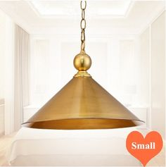 72.31$  Watch here - http://ali38m.worldwells.pw/go.php?t=32760357182 - Mordern creative entire copper Pendant lights polishing&vacuum coating E27 LED single lamp for porch&pavilion&stairs BRSDD019 72.31$