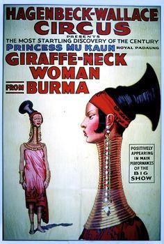 1930: Princess Mu Kaun, Gifraffe-Neck Woman from Burma