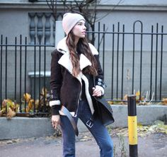 Shearling outfit.  #fashion #style #outfitinspiration