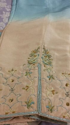 Code#001  Preloved 3 piece shiffon suit. Butler style embroidered shiffon shirt.  3 shaded pure shiffon dupatta with sequins all over. 2 shaded pure silk trouser.  For Rs. 4000/- only.