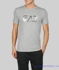 T-shirt Armani EA7 Homme Pas Cher Manches Courtes Col Rond Gris ciel 4af73d105b0