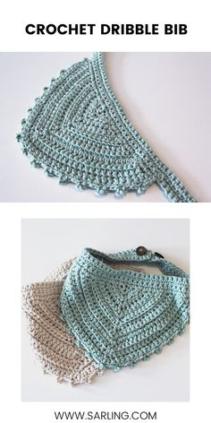 Super Easy Free Crochet Dribble Bib Super Easy Free Crochet Dribble Bib,Crochet This bandana style dribble bib has a vintage feel and is suitable for girls and boys! Enjoy the free pattern here. Crochet Baby Cocoon Pattern, Crochet Baby Bibs, Crochet Baby Clothes, Crochet For Boys, Baby Knitting, Free Crochet, Crochet Patterns, Crochet Beanie, Crochet Hats