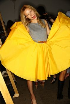 kind of need this yellow skirt