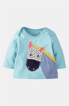Mini Boden 'Animal' Appliqué Tee (Infant) available at This would be SO easy to make! Baby Sewing Projects, Sewing For Kids, Nordstrom Baby Clothes, Mini Boden, Stylish Kids, Baby Girl Dresses, Cool Baby Stuff, Kids Wear, Couture