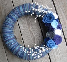 Winter Berries Yarn and Felt Front Door Wreath14 by TrendyToppings
