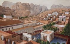 Petra, Jordan, Capital of the Nabataean Kingdom in the century AD @ Bible Illustrations, Biblical Sermon Illustrations, Christian Pictures Ancient Greek Architecture, Roman Architecture, Historical Architecture, Ancient Egyptian Art, Ancient Rome, Ancient History, European History, Ancient Aliens, Ancient Greece