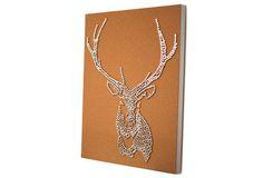 DIY Stag Deer Head Drawing Pin Art