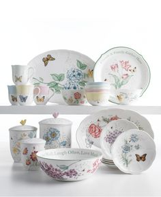 Lenox Serveware, Butterfly Meadow Collection - Fine China - Dining & Entertaining - Macy's