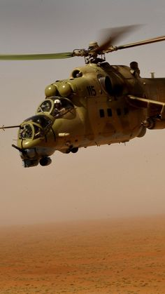 Mi-35, Mil, Sabre, attack helicopter, flying tank, Russian Army, Russia, desert