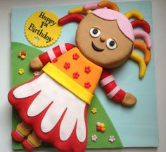 Upsy Daisy cake from In The Night Garden - AlexandraBaked