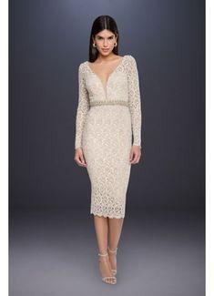 d2ad4499e Long Sleeve Lace Short Wedding Dress with Beading 1712C3054 Simple Wedding  Dress With Sleeves, Tea