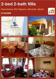 2-bed 2-bath Villa in Guardamar Del Segura, Alicante, Spain ►€149,950 #PropertyForSaleInSpain