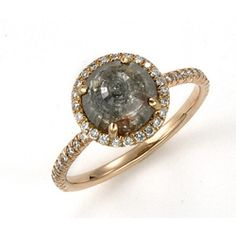 Organic Style Grey Diamond Engagement Ring Diamonds Of Color Pinterest Rings And