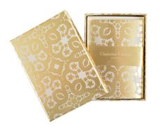 "Christian Lacroix ""Oro y Plata"" Notecard Set"
