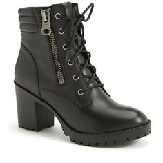 """Steve Madden 'Noodless' Lugged Sole Boot, 3"""" heel (20.965 HUF) ❤ liked on Polyvore"""