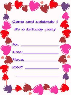 170 Best Free Printable Birthday Party Invitations Images Invitation Creator