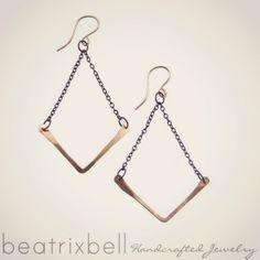 v earrings in silver or gold