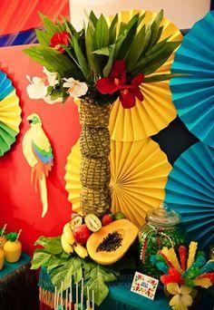 Rio Themed 4th Birthday Jungle, Bird Party