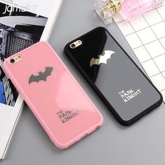 Cool Dark Kinght Batman Phone Cover For iphone X 6 6s 7 Plus Mirror Silicone Case For iphone 7 6 6s 8 Plus Phone Cases Shell