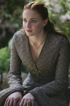 """Sophie Turner as Sansa Stark. 