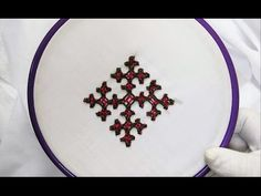 Hand Embroidery - Gujrati Stitch - YouTube