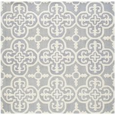 $152 @Overstock.com - Safavieh Handmade Moroccan Cambridge Silver Wool Rug (6' Square) - Hand-tufted of a 100-percent wool pile, this handmade wool rug features a special high-low construction to add depth and unusual detailing.  http://www.overstock.com/Home-Garden/Safavieh-Handmade-Moroccan-Cambridge-Silver-Wool-Rug-6-Square/7963202/product.html?CID=214117 $152.09