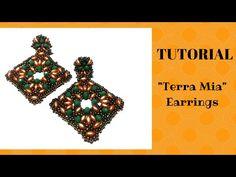 "Tutorial perline: orecchini ""Terra mia"" | Beading Tutorial - YouTube"