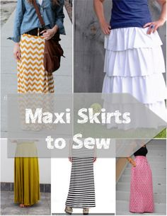 maxi skirt tutorials