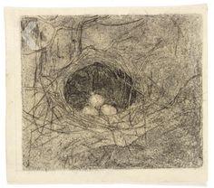 Nestje met 3 eieren (1913),
