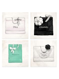 Luxury Shopping (Set of 4) (Canvas) by Oliver Gal at Gilt