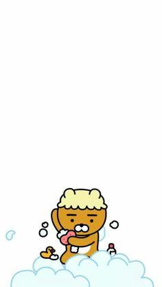 Bear Wallpaper, Cool Wallpaper, Pattern Wallpaper, Iphone Wallpaper, Cartoon Pics, Cute Cartoon, Ryan Bear, Kakao Ryan, Cute Lockscreens